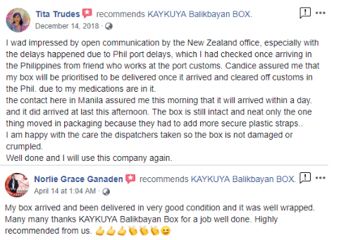 KAYKUYA Balikbayan Box New Zealand