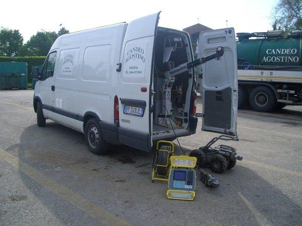 Moderna tecnologia di videoispezione fognaria