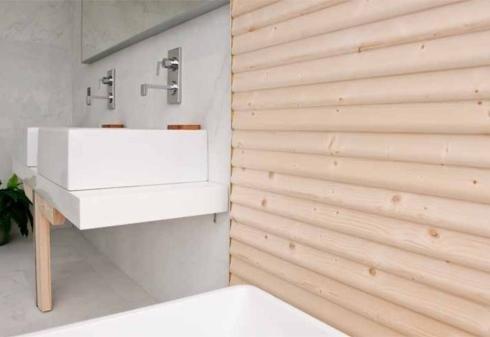 parete listoni legno