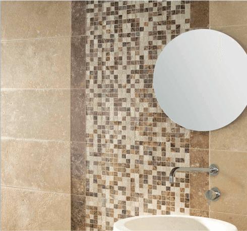 dettaglio parete mosaico