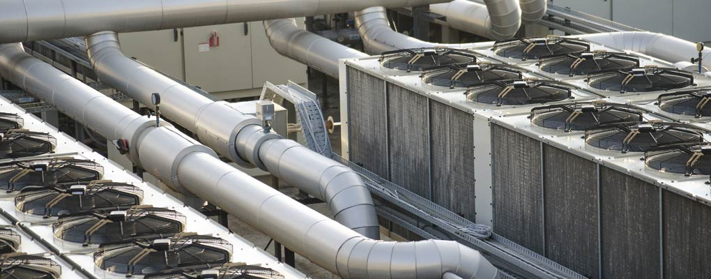 View of a commercial air conditioning system