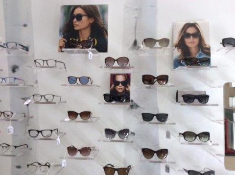 occhiali esposti