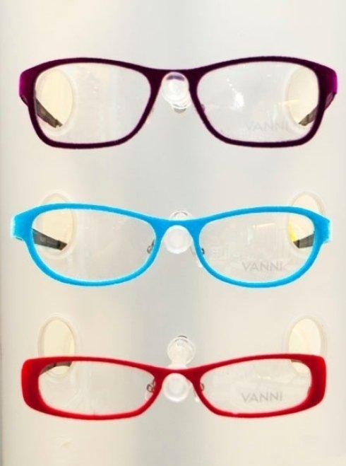 occhiali di vario colore