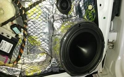 subwoofer in installazione