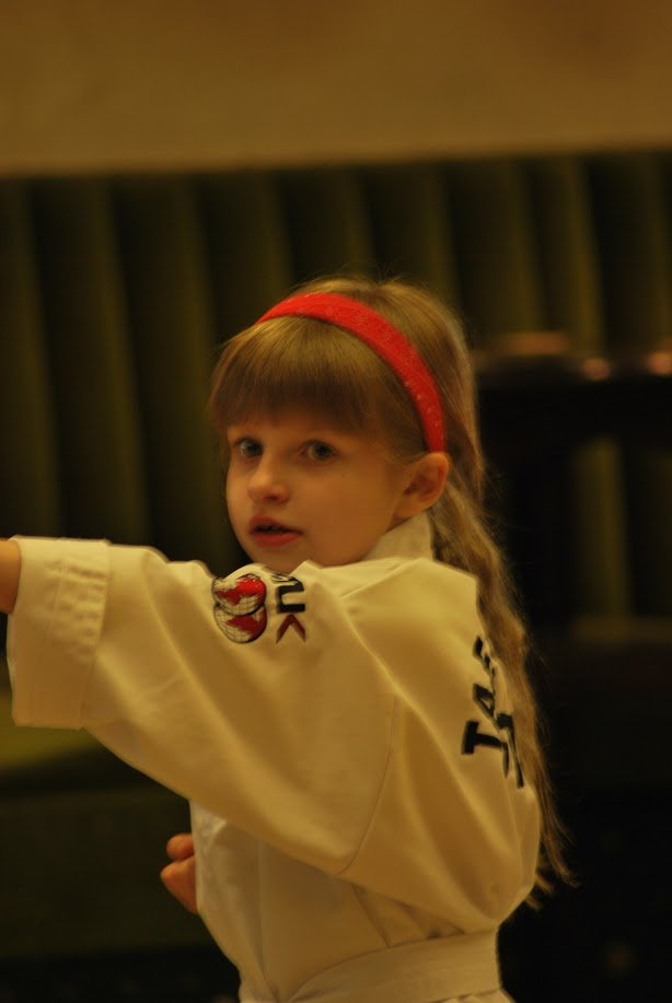 a little child at the martial arts