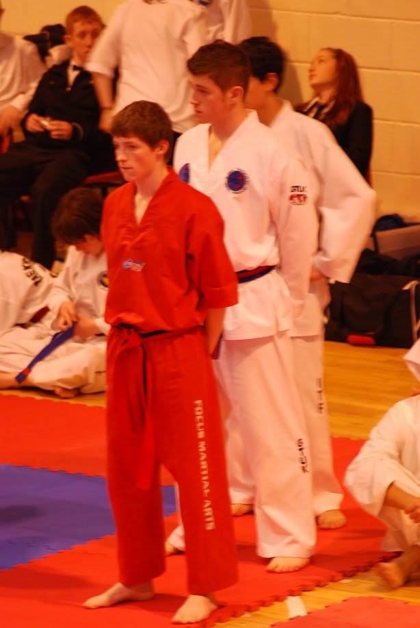 red uniform for martial arts