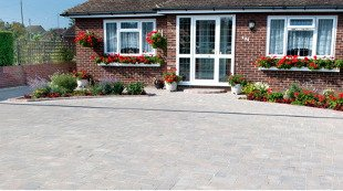 Bungalow with new driveway and path