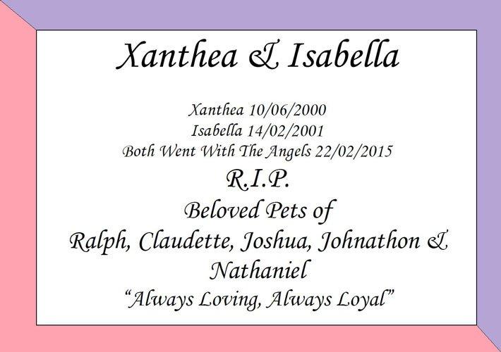 xanthea and isabella
