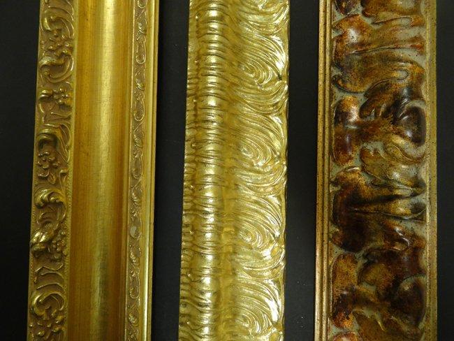 Cornici con finitura in oro