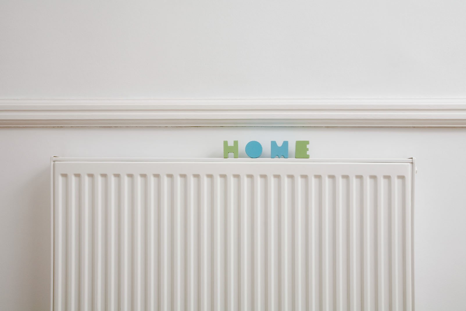 A radiator in a home