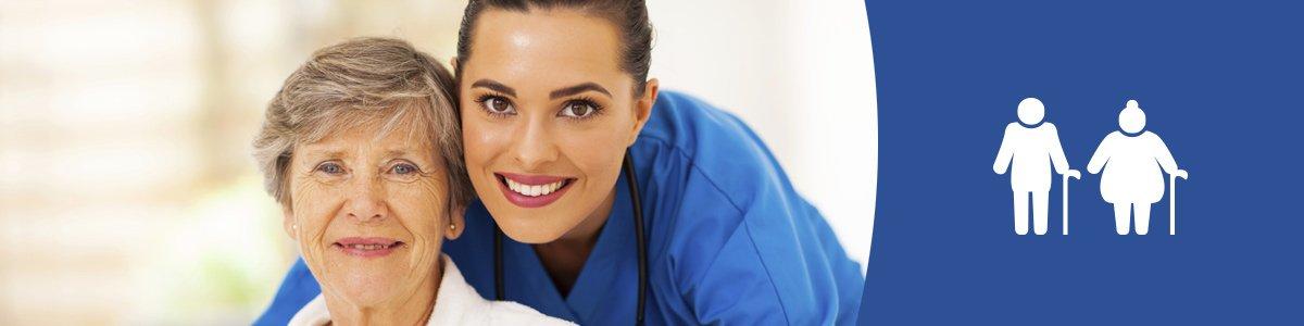 premier care pty ltd nurse and patient smiling
