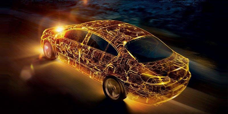 auto  con luci