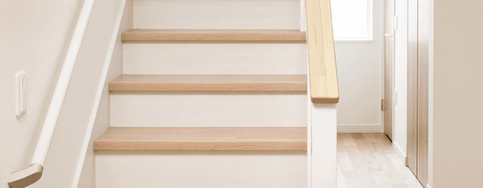brown and white stairs