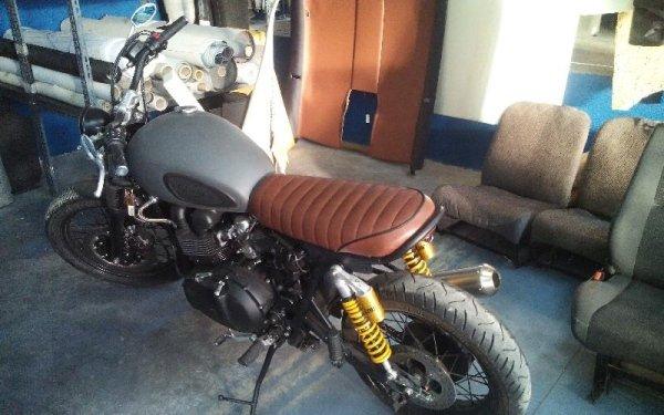 Restauro tappezzeria moto