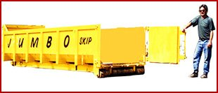 Yellow skip in Doncaster