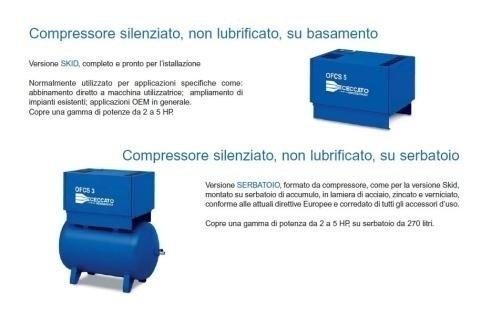 elettrocompressori oil free Como