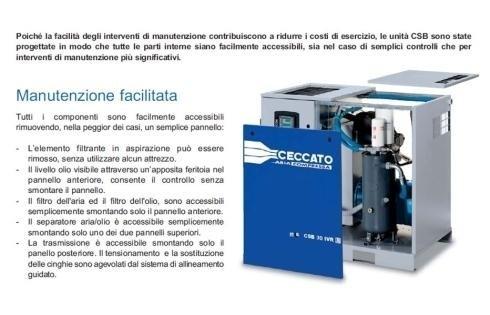 manutenzione compressori rotativi a vite