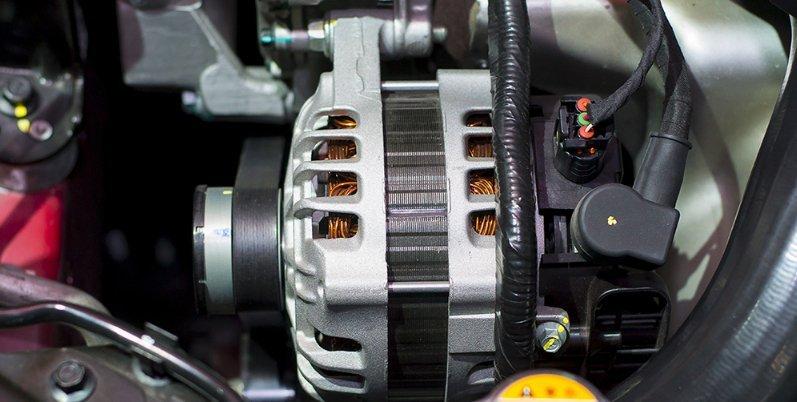 The starter motor of car