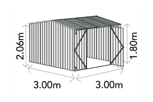 versatile building products absco sheds premier shed za30302gk dimensions