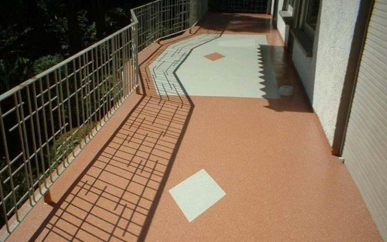 Lavorazione su terrazzi