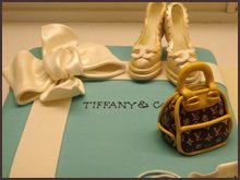 Luxury shoes and bag cake