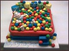 Ball pool cake
