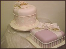 Pink hatbox cakes