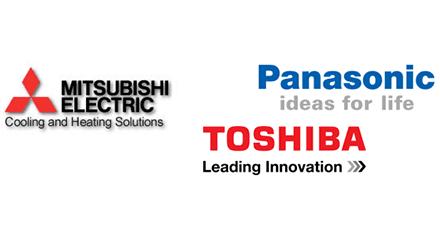 Panasonic, Toshiba, Mitsubishi