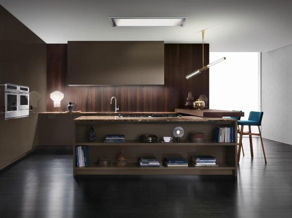 cucina con isola mobilificio Cavallero Genova