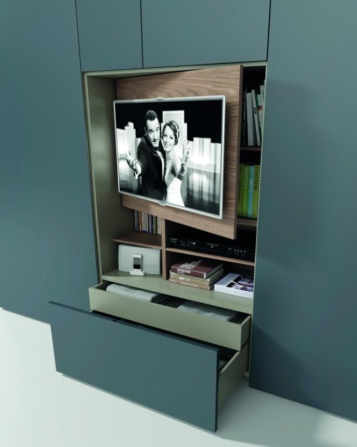 armadio tv integrata lineare Cavallero Genova