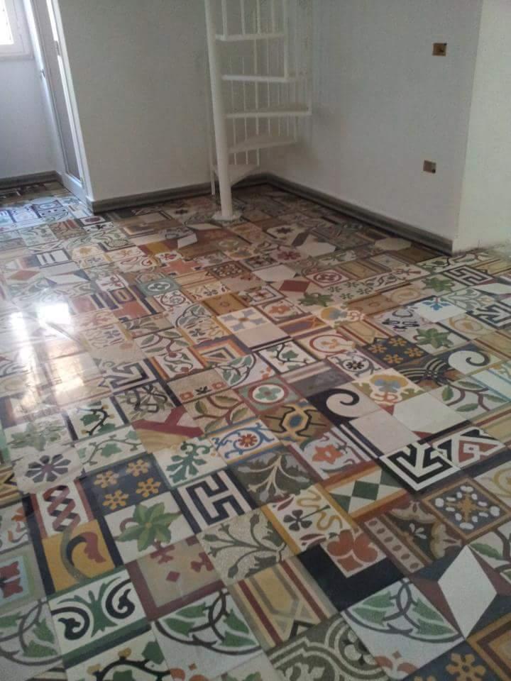 pavimento in multicolore