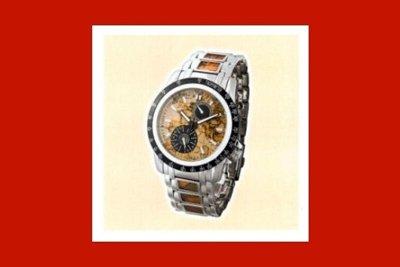 un orologio in acciaio