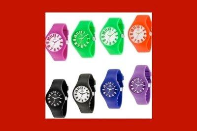 orologi colorati in silicone