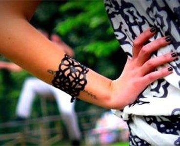 bracciale nero da donna