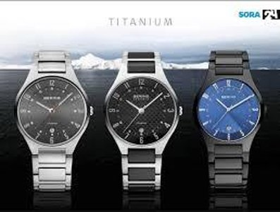 tre orologi da uomo in acciaio