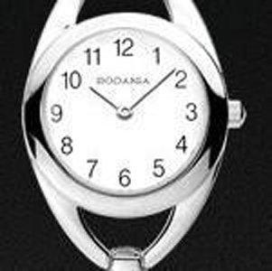 cassa di orologio Rodania con quadrante bianco
