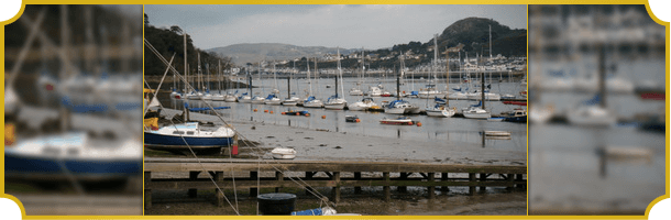 View of Conwy quay