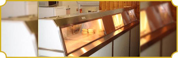 Chip shop hot counter