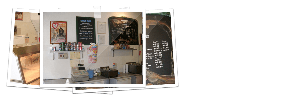 Chip shop counter