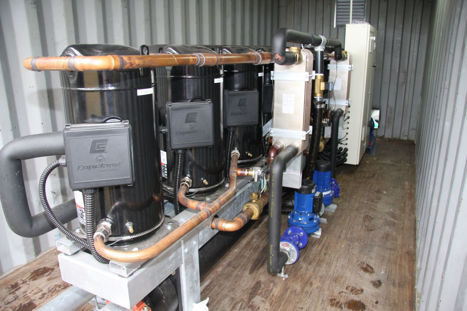 View of installed heating system