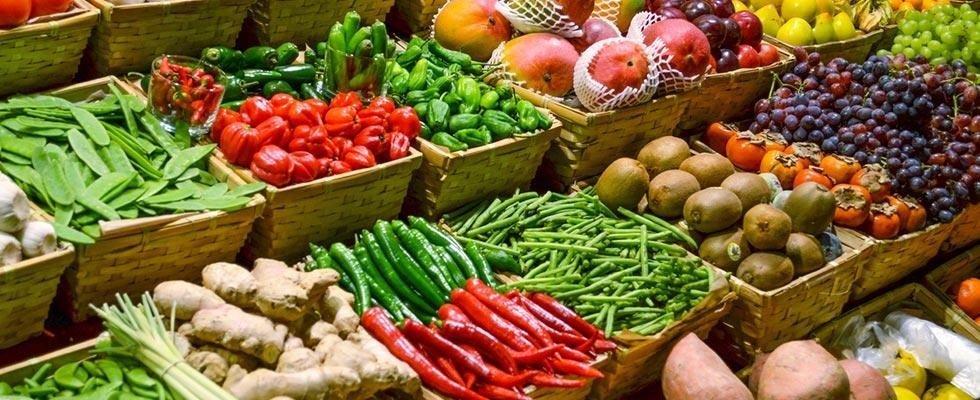 Vegetali e frutta fresche