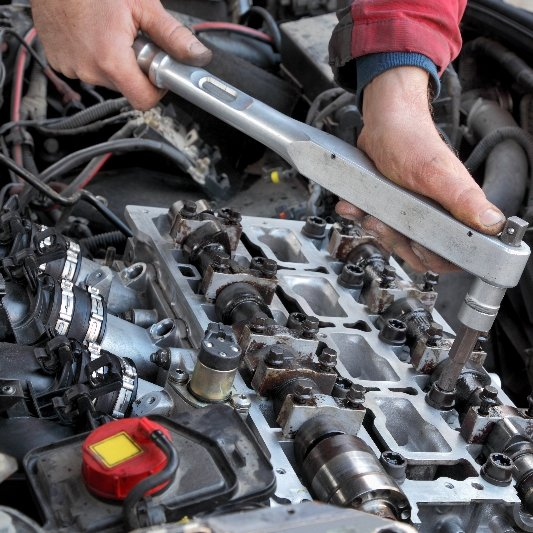 Auto repairs on an engine