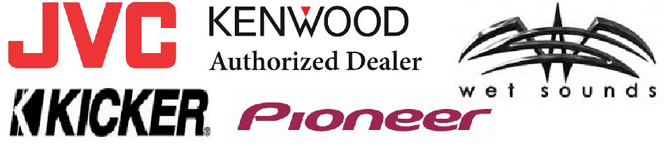 JVC Audio Kenwood authorized dealer kicker audio pioneer audio wet sounds audio