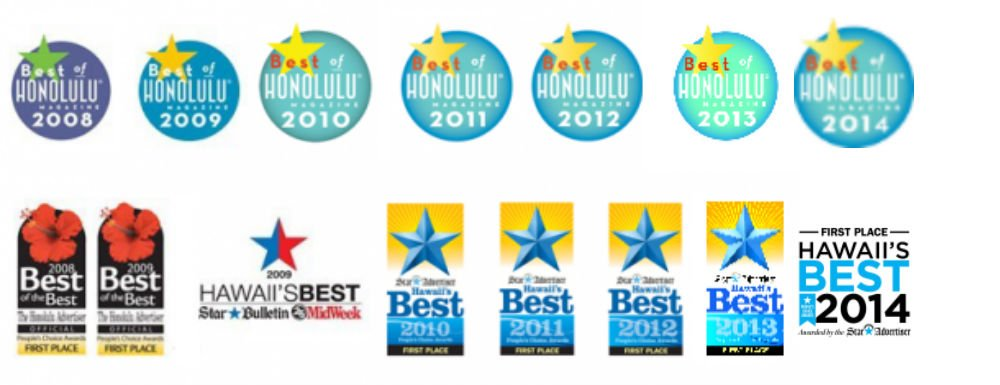 Best of Honolulu, Best of Hawaii Dry Cleaner awards