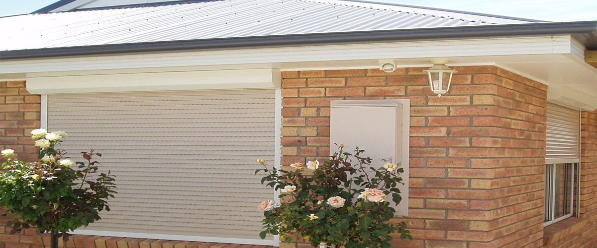 Roller Shutters installed on a house in Brisbane