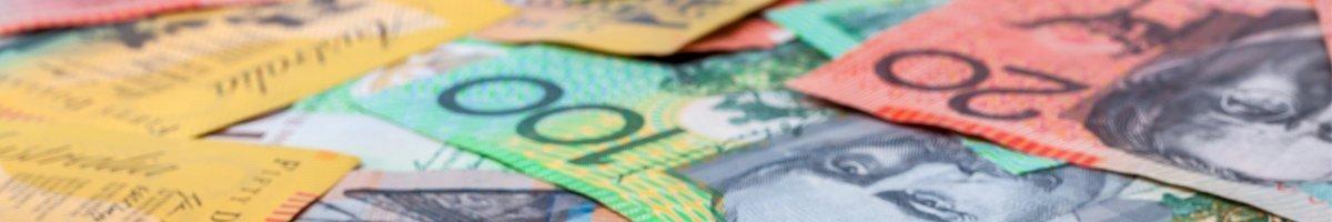 mixed australian dollar money notes