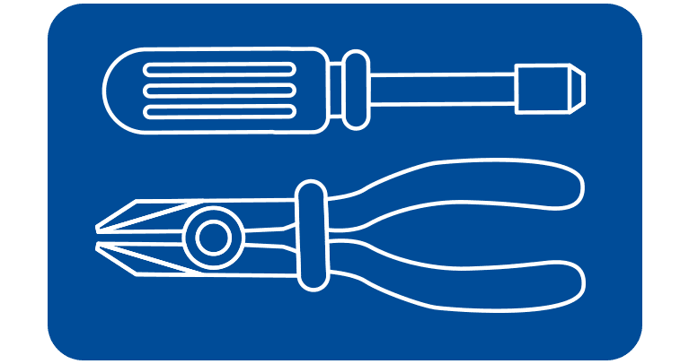 mechanical handtool icon button