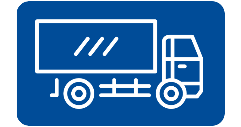 transport logistics truck icon button