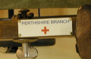 1930s folding chair - Perthshire branch label