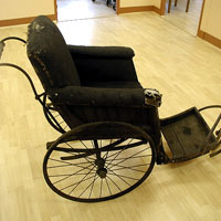 Leveson & Sons bath chair before restoration